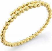 Gold Plated Diamond Cut Beaded Crossover Bangle Bs144