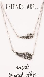 Sentiments Friends Are... Matching Angel Wing Necklaces 29956