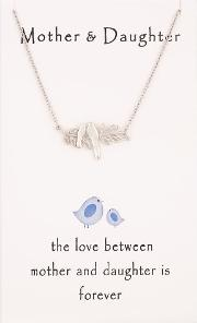 Sentiments Mother And Daughter Nesting Bird Necklace 16281