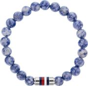Stainless Steel Blue Sodalite Beaded Bracelet 2790069