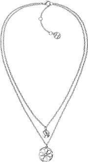 Stainless Steel Double Layer Coin Charm Necklace 2780067