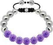 10mm Stainless Steel Lilac Crystal Bracelet 020875