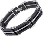 Stainless Steel Black 21cm Bar Bracelet Lab-120