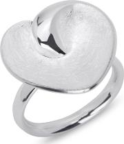 Sterling Silver Curved Heart Ring 54 Mr 228 54