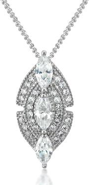 Silver Marquise Pendant 3052