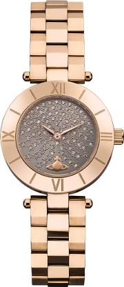 Ladies Westbourne Gold Plated Watch Vv092chrs