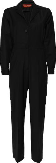 stretch wool jumpsuit