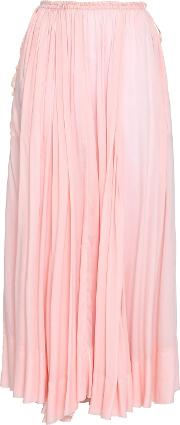 bowly pleated voile maxi skirt