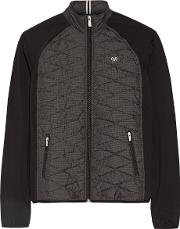 Cloud 9 Quilted Shell And Stretch Jersey Jacket Dark Gray