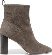 Tess Nubuck Ankle Boots Charcoal