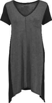 Two Tone Stretch Modal Nightdress Anthracite