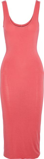 stretch jersey midi dress