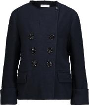 Dipo Frayed Boucle Jacket Midnight Blue