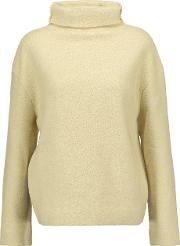 Dypton Wool Blend Turtleneck Sweater Ecru