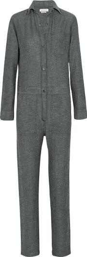 Peters Gabardine Jumpsuit Anthracite