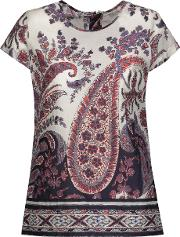 Printed Cotton Broadcloth Top Multi