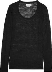 Stretch Knit Sweater Black
