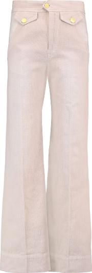 Twill Straight Leg Pants Antique Rose
