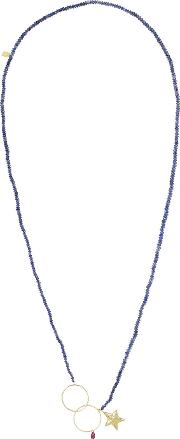 Sapphire And Ruby Necklace Navy