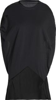 open back draped cotton jersey and satin crepe top