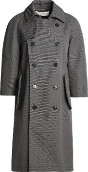 double breasted cotton canvas trench coat