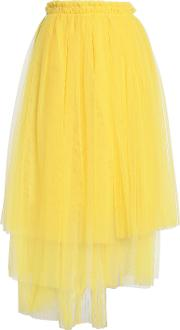layered tulle midi skirt