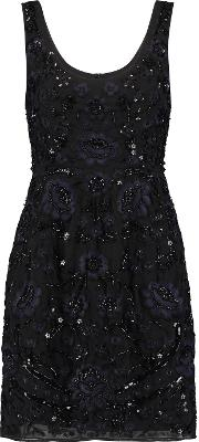 Embellished Chiffon Dress Black