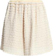 ruffled silk lace mini skirt