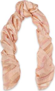 metallic knitted scarf