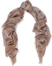 printed cashmere and silk blend gauze scarf