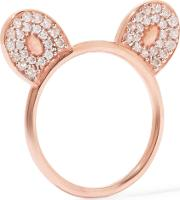 Woman Rose Gold Plated Topaz Ring Rose Gold