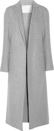 Woman Cashmere And Wool Blend Coat Gray Size 10