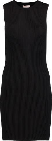 A.l.c. Woman Croft Ribbed Knit Dress Black Size L