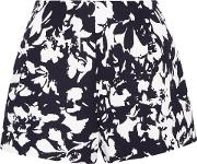 Woman Carrie Printed Twill Shorts Navy Size L