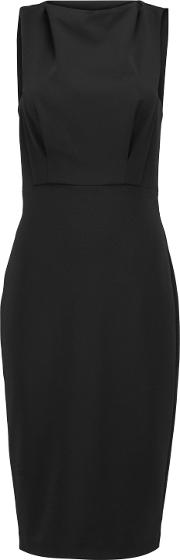 Woman Stretch Jersey Dress Black Size 12