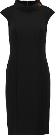 Woman Stretch Twill Dress Black