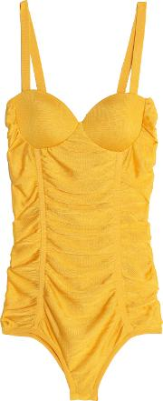 Ruched Knitted Bodysuit