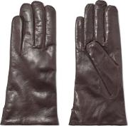 Woman Leather Gloves Brown
