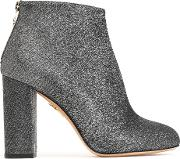 Metallic Woven Ankle Boots