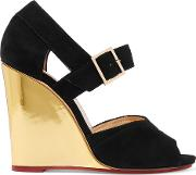 Woman Marcella Suede Wedge Sandals Black Size 37