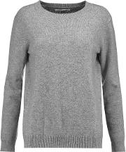 Woman Heart Intarsia Wool And Cashmere Blend Sweater Gray