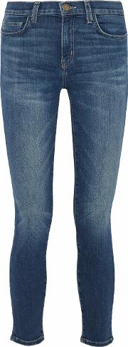 Faded Mid Rise Skinny Jeans