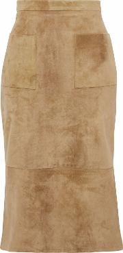 Suede Skirt Sand Size 2