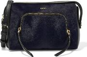 Two Tone Calf Hair And Leather Shoulder Bag