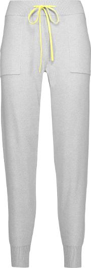 Woman Cotton And Cashmere Blend Skinny Pants Light Gray Size M