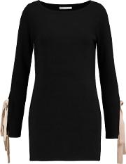 Woman Wool And Cashmere Blend Sweater Black Size M