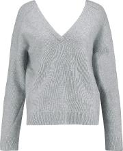 Woman Wool And Cashmere Blend Sweater Light Gray Size Xs