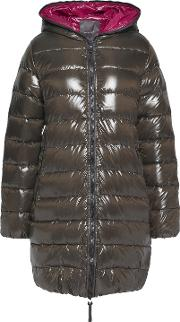 Woman Ace Quilted Shell Down Jacket Dark Green