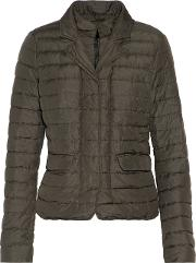 Woman Egina Quilted Shell Down Jacket Army Green Size 42