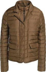 Woman Egina Quilted Shell Down Jacket Army Green Size 48